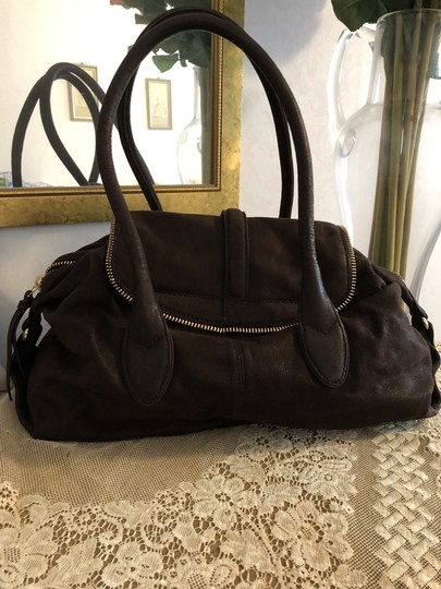 Botkier Leather Distressed Satchel in Brown Image 2