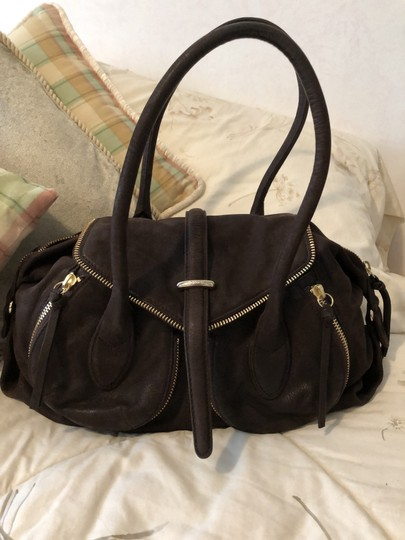 Botkier Leather Distressed Satchel in Brown Image 5