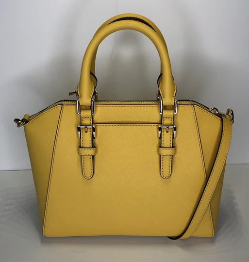 Michael Kors Leather Matching Wallet Satchel in Daisy Yellow Image 10
