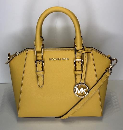 Michael Kors Leather Matching Wallet Satchel in Daisy Yellow Image 5