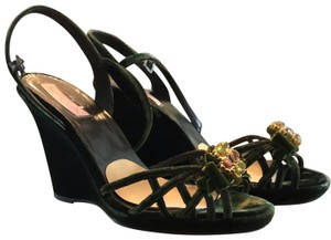 spiga italy green Wedges