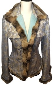 Blumarine Blue Grey Brown Blazer