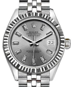 Rolex Rolex Silver 36mm Datejust with Diamond Dial Watch