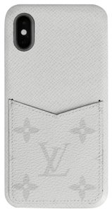 Louis Vuitton IPHONE CASE BUMPER for XS Phone Model Silver Monogram Eclipse