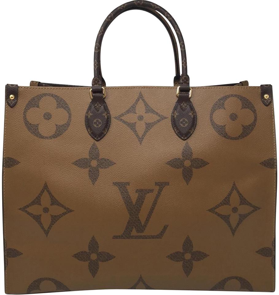 38233ef9ae Louis Vuitton Onthego Giant Reverse Monogram Coated Canvas Tote