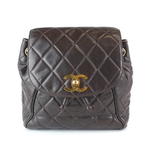 41323329b30f Chanel Quilted Classic Gold Lambskin Backpack