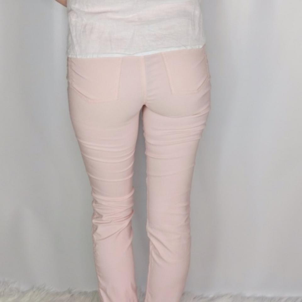super popular 272c5 89360 Moschino Pink Light Wash Donna Cigarette Stretch Skinny Jeans Size 27 (4,  S) 83% off retail