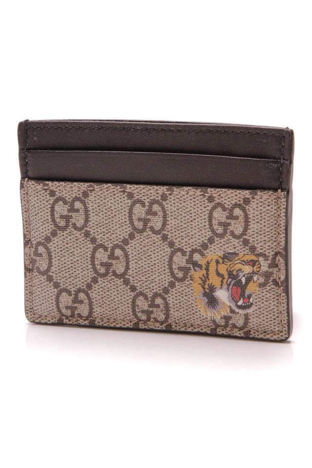 be0bb97c05f1 Gucci Gucci Bestiary Card Holder Wallet - Supreme Canvas Image 0 ...