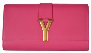 Saint Laurent Ysl Yves Pink Clutch