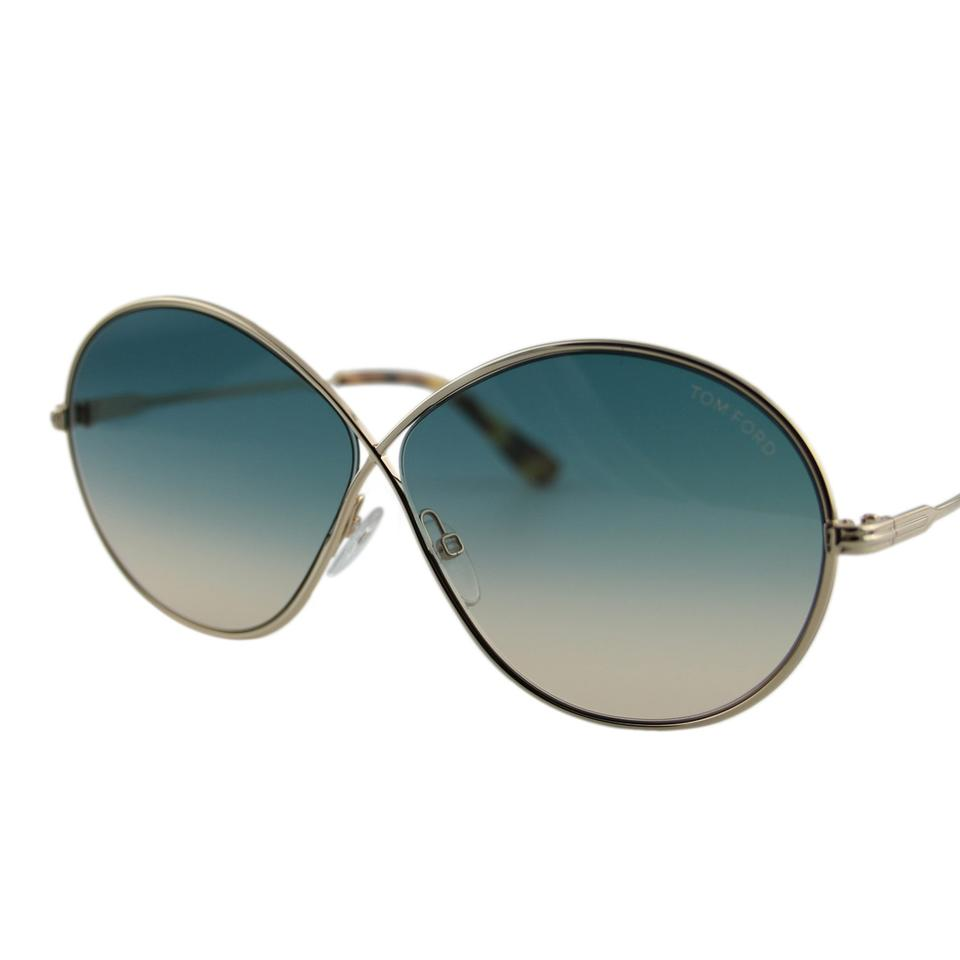 f678429808563 Tom Ford New Tf Rania-02 Ft0564 28p Women Infinity Flat Oval Butterfly  Sunglass Image ...
