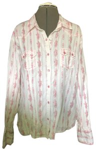 Panhandle Slim Button Down Shirt white with pink