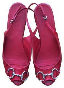 Gucci Patent Red Sandals