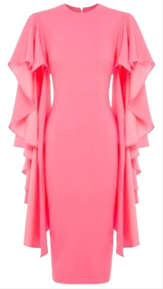 f1a5d9e3d6a Alex Perry Pink Cori Cape Mid-length Night Out Dress Size 6 (S ...