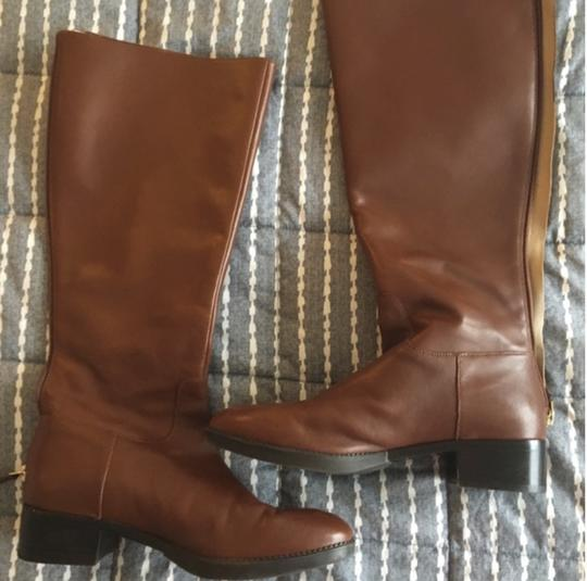 Tory Burch Leather Brown Boots Image 4