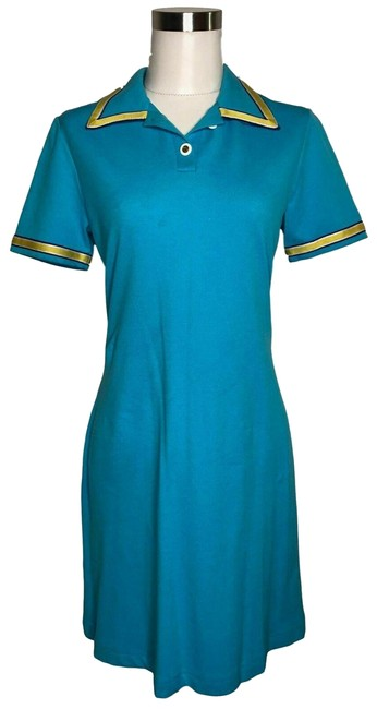 Preload https://img-static.tradesy.com/item/25385998/blue-yellow-st-john-designer-small-polo-solid-short-casual-dress-size-4-s-0-1-650-650.jpg