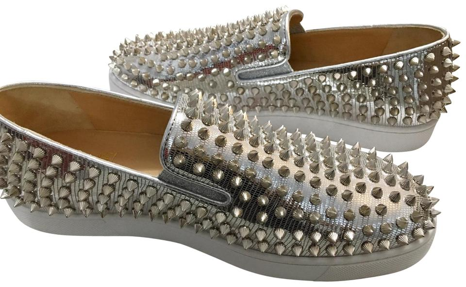 9b5ac49bc31 Christian Louboutin Silver New Roller Boat Womens Spike Flats Sneakers Size  EU 40 (Approx. US 10) Regular (M, B) 44% off retail