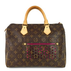 Louis Vuitton Perforated Pink Limited Edition Monogram Canvas Travel Bag
