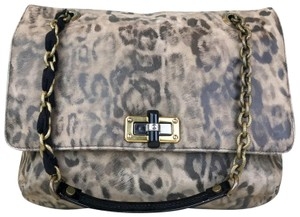 Lanvin Animal Print Suede Happy Shoulder Bag