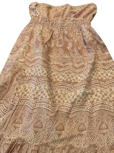 brown/white Maxi Dress by Zio