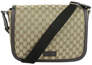 7f0b315146ac Gucci Gg Canvas Large Brown Messenger Bag