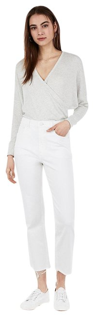 Item - White New Waisted Cropped Jeans Pants Size 10 (M, 31)