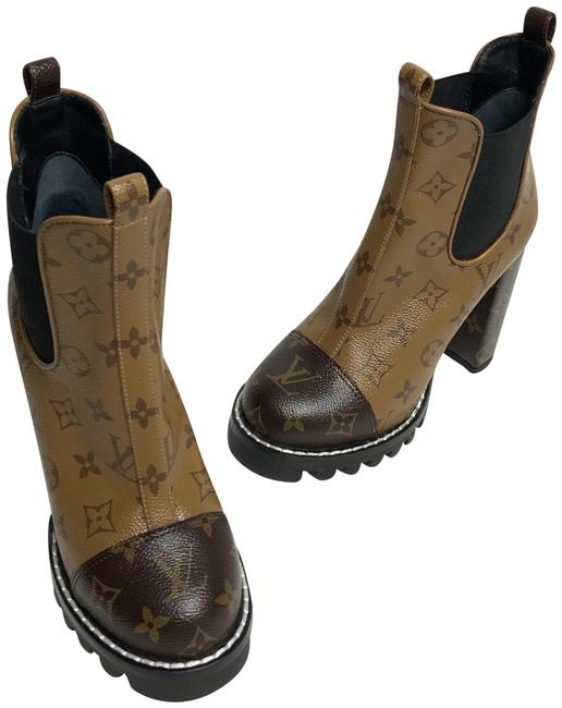 Item - Brown and Beige Star Trail Monogram Boots/Booties Size EU 37 (Approx. US 7) Regular (M, B)