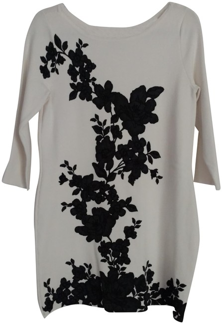Item - White/ & Charcoal Couture Tunic Size 10 (M)