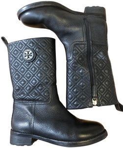 Tory Burch Leather Luxury Black Boots