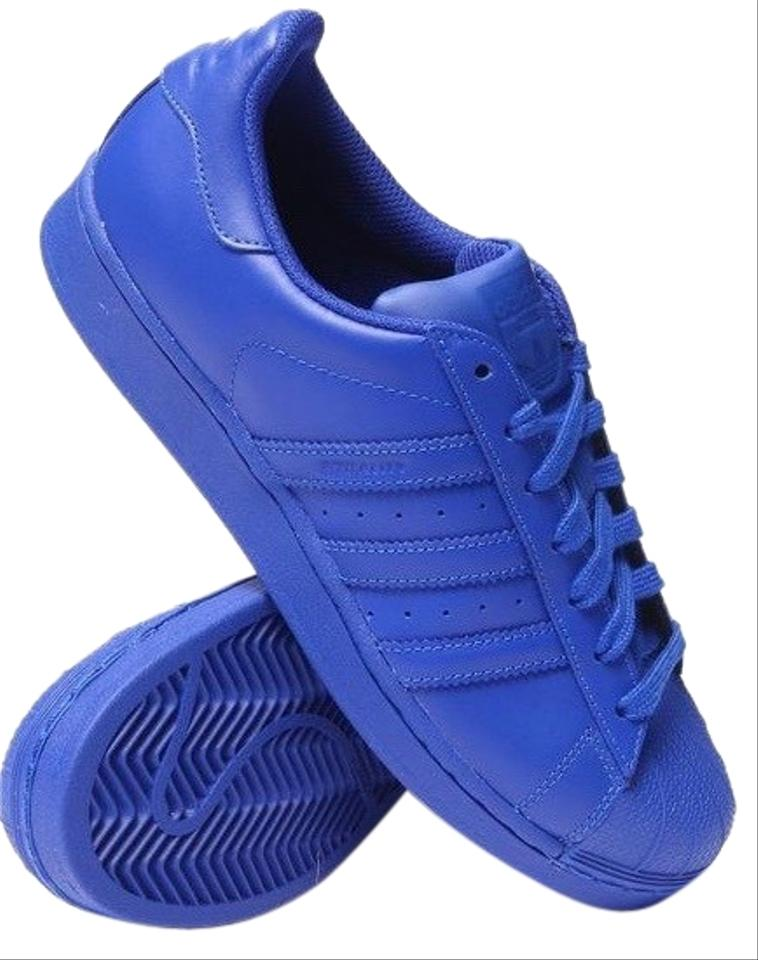 the latest 4bc19 dbdd2 adidas Royal Blue Pharrell Williams Superstar Supercolor Sneakers