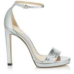 Jimmy Choo Metallic Pump Stiletto Silver Sandals