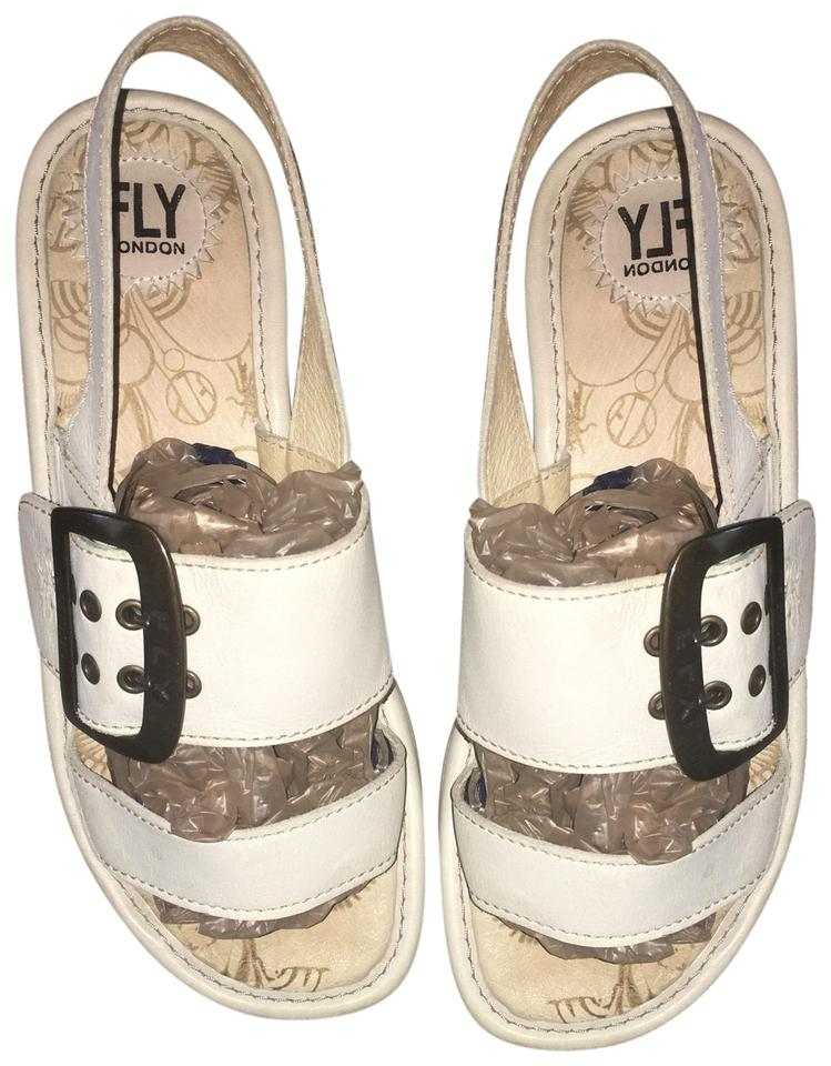b2880994 FLY London Off White Codo Sandals Size EU 40 (Approx. US 10) Regular ...