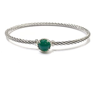 David Yurman FANTASTIC!! LIKE NEW!! David Yurman Chatelaine Bracelet with Green Onyx