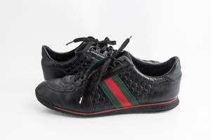 Gucci Black Island Low-cut Leather Sneakers Shoes