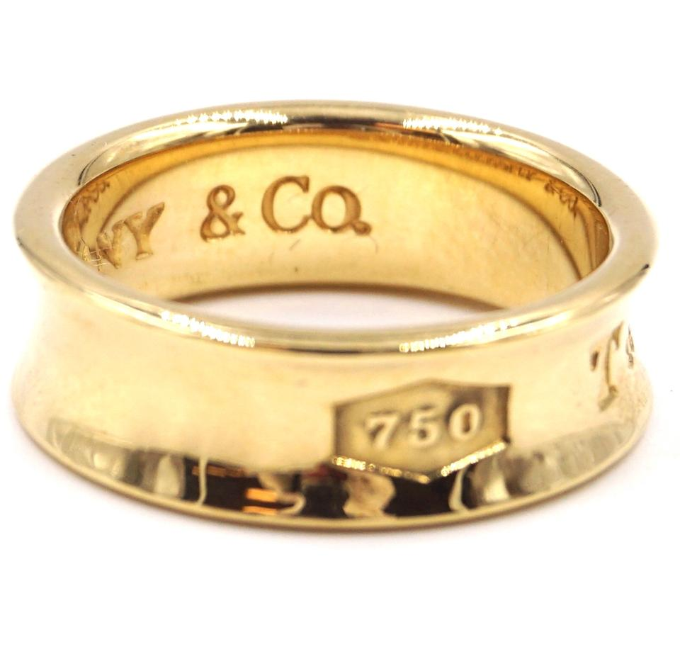 750e74a7ae092 Tiffany & Co. #29440 Yellow Gold 750 18k 1837 Size 4.25 Ring