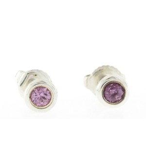 90b3f39b2d798 Tiffany & Co. Tiffany & Co. 925 Silver Pink Sapphire Elsa Peretti Stud  Earrings
