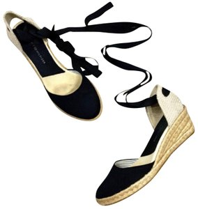Tommy Hilfiger Black and Tan Wedges