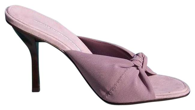 Item - Mauve Couture Mesh Elastic Suede Footbed Leather Sandals Size US 7.5 Regular (M, B)