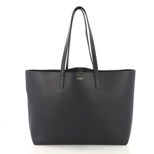 Saint Laurent Leather Tote in dark blue