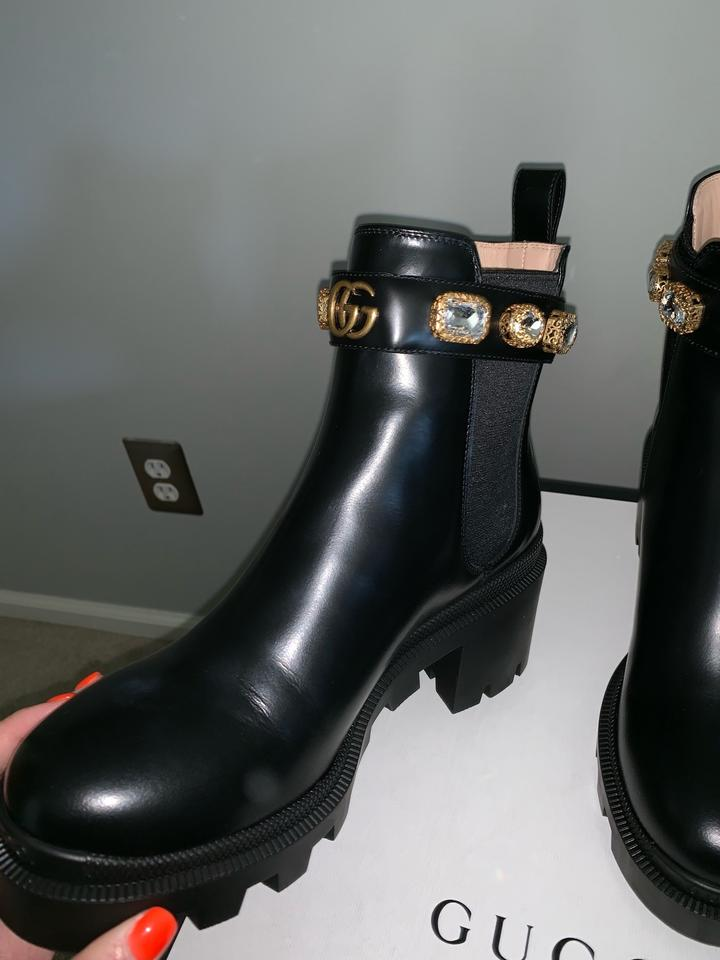 0d98f1fb Gucci Leather Ankle with Belt Boots/Booties Size EU 37.5 (Approx. US 7.5)  Regular (M, B) 9% off retail