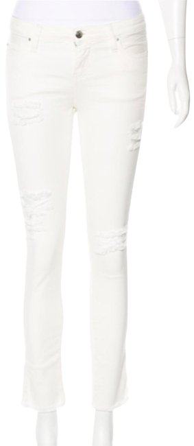Item - White Light Wash Distressed Skinny Jeans Size 26 (2, XS)