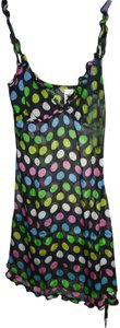 Miss Sixty short dress Black Sheer w/pink, white, blue, yellow & green Polka Dots on Tradesy