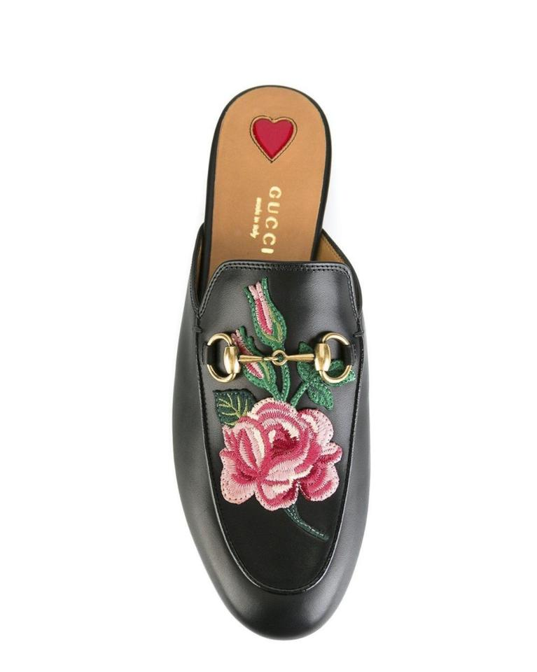 49f1aec99 Gucci Princetown Bloom Floral Leather Slipper Flats Size EU 36 ...