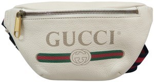 Gucci Logo Belt Calfskin Cross Body Bag