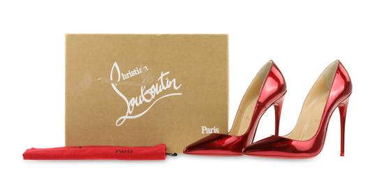 Christian Louboutin Leather Red Pumps Image 11