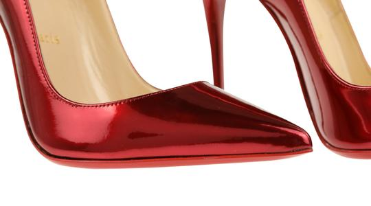 Christian Louboutin Leather Red Pumps Image 7