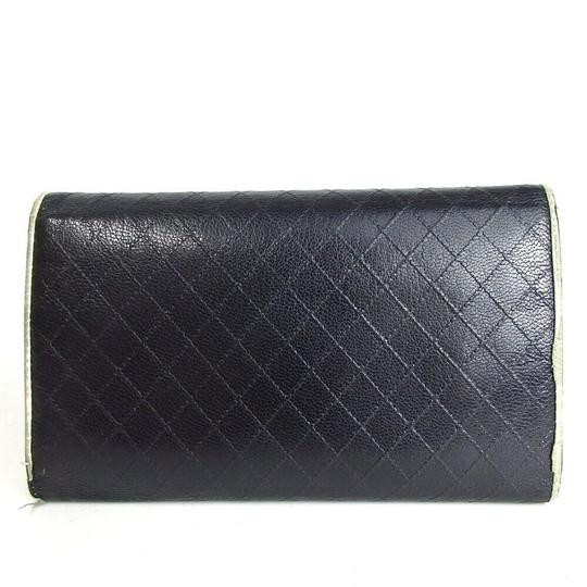 Chanel CHANEL Bicolore Quilted Matelasse CC Logo Long Bifold Wallets Image 1