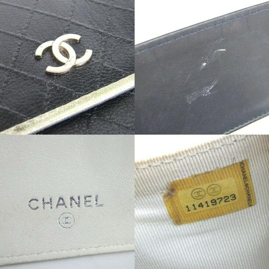 Chanel CHANEL Bicolore Quilted Matelasse CC Logo Long Bifold Wallets Image 9