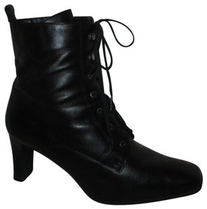 Markon Leather Lace Granny Ankle Onmoo3 black Boots