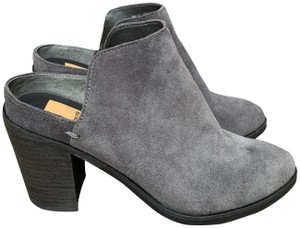"""Dolce Vita Suede Heel 3.75"""" Padded Insole Grey Mules"""