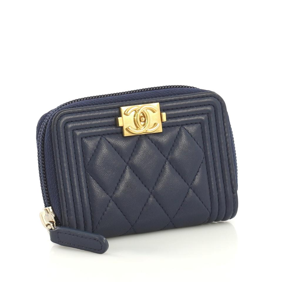128a078cfe4668 Chanel Chanel Boy Zip Coin Purse Quilted Lambskin Small Image 6. 1234567